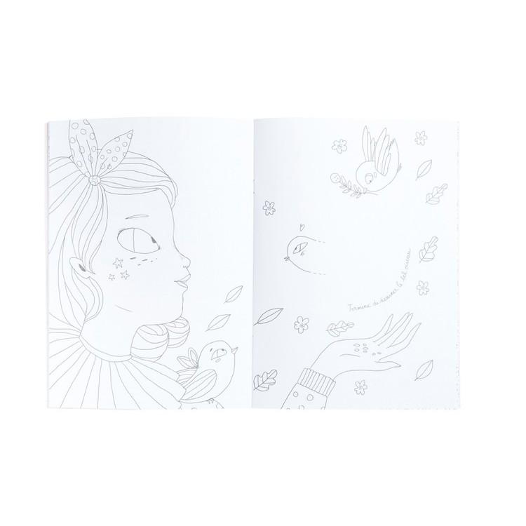 FYND - Fin pyssel- och målarbok - 'Les Parisiennes'