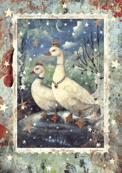 Förpackning med flera Kort med kuvert - Kungliga JulGäss