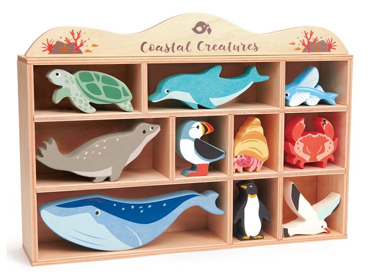 Havets vackra djur i trä från Tender Leaf Toys