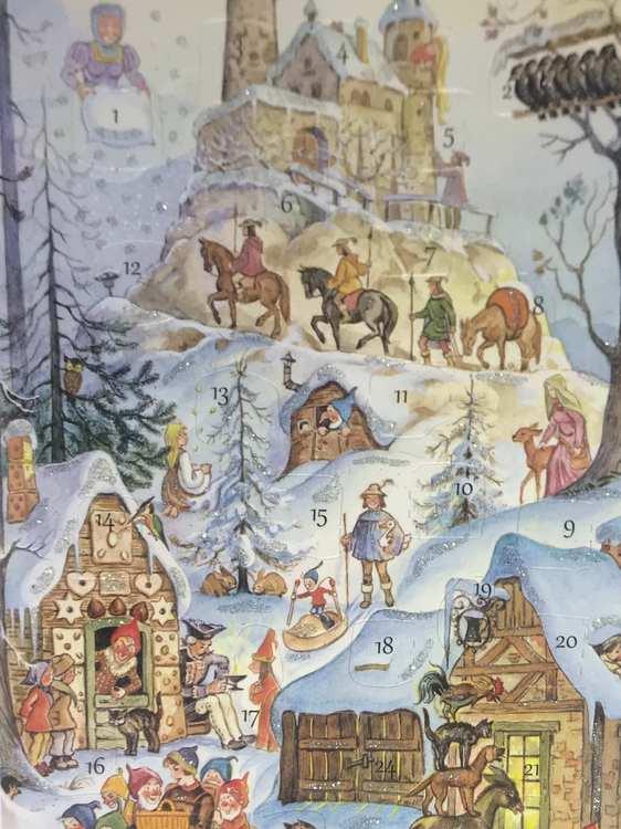 Sagorna - Små Adventskalendrar som julkort med kuvert  - Välj vilket motiv du vill ha (Fraktfritt)