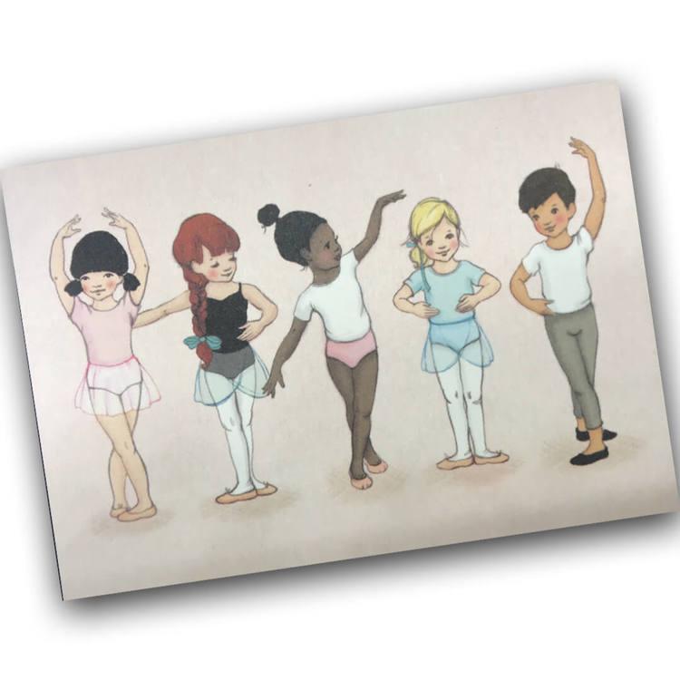 Enkelt kort - Balettklass (Fraktfritt)