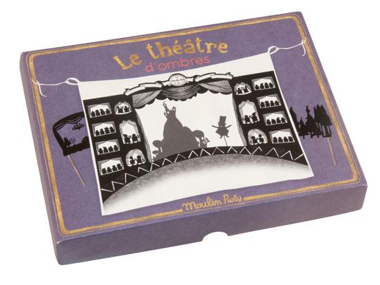 Skuggteater med scen från Moulin Roty