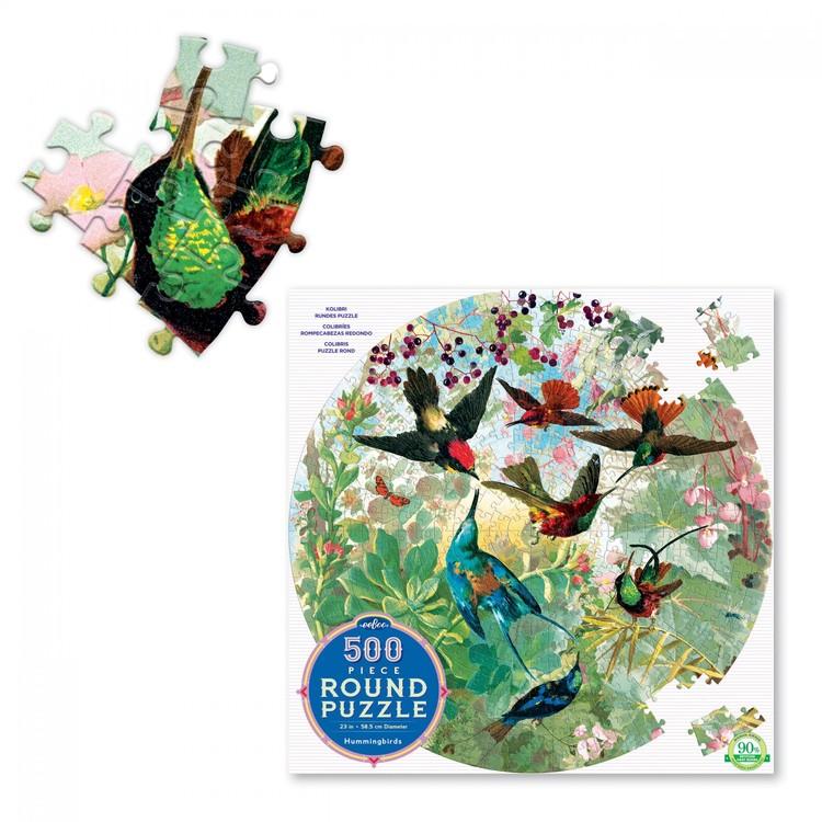 Runt pussel med kollibrier (500 bitar) från EeBoo
