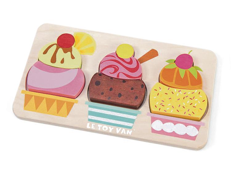 Pussel med glassar 6 bitar från Le toy van