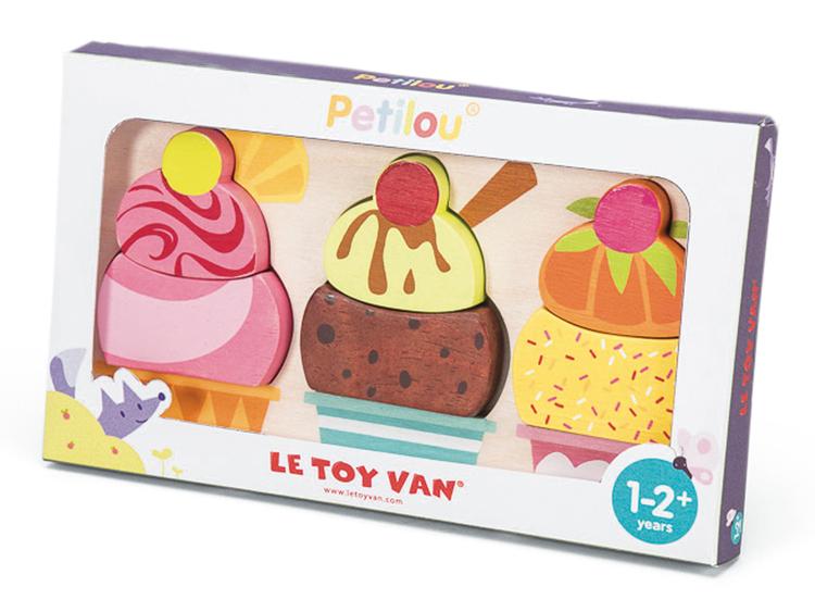 Pussel med glassar 6 bitar från Le toy van för små barn