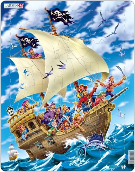 Pussel - Piratskepp (30 bitar)