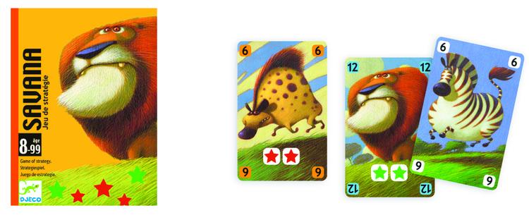 Savana - Spelet där det är viktigt att få tag på rätt djur från Djeco