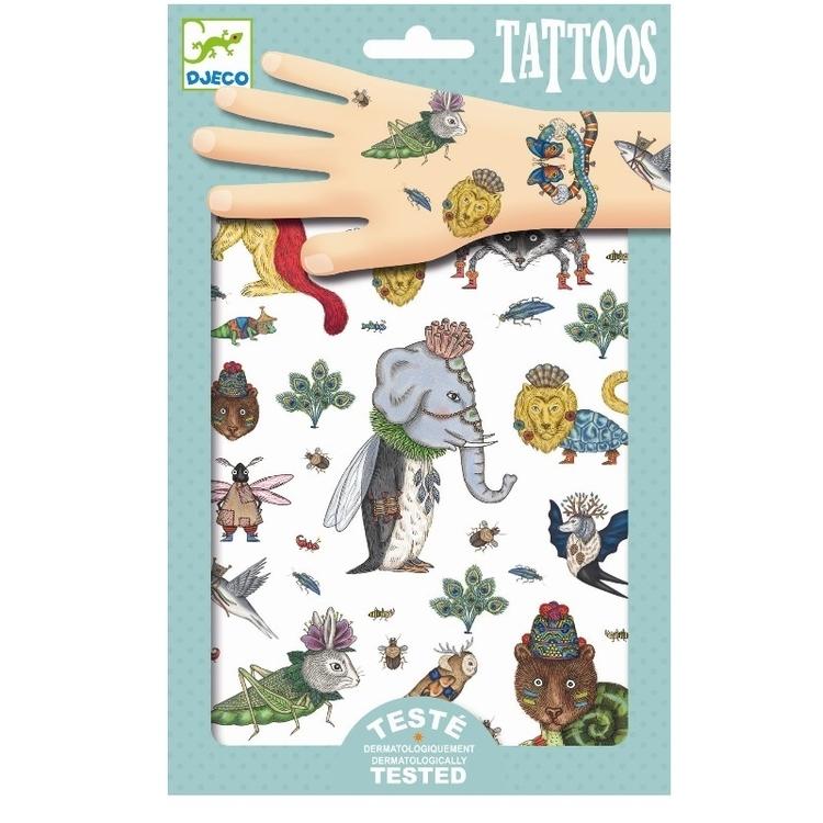 Tatuering metallisk Djeco Odjur från Djeco