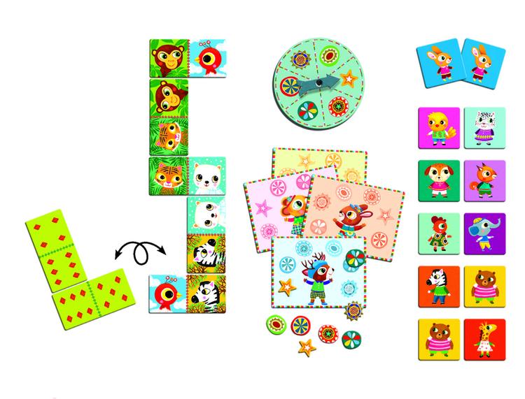 Tre spel i ett!  - Memory, Domino och Bingo