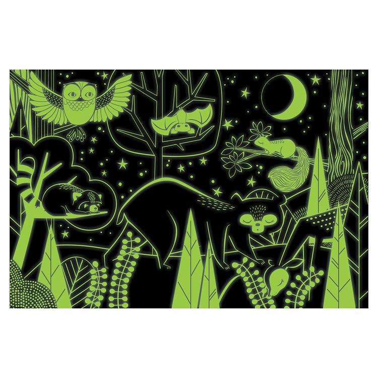 Lyser i mörkret - Djuren i skogen (100 bitar)