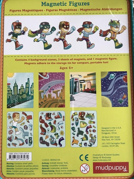 Superhjälte - Superhero (magnetfigurer) från Mudpuppy