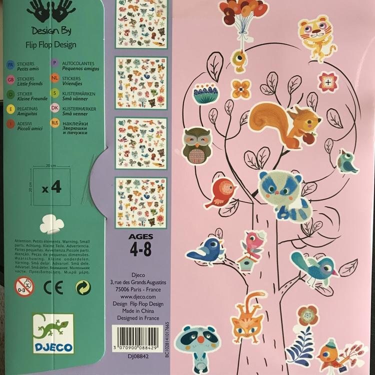 Klistermärken - Små djur från Djeco