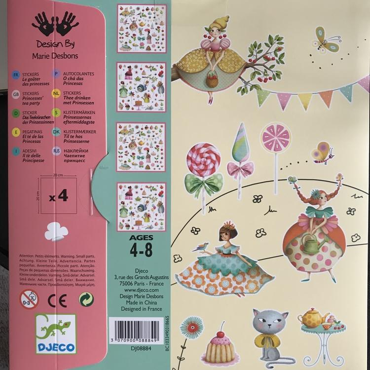 Klistermärken Prinsessor och teparty från Djeco