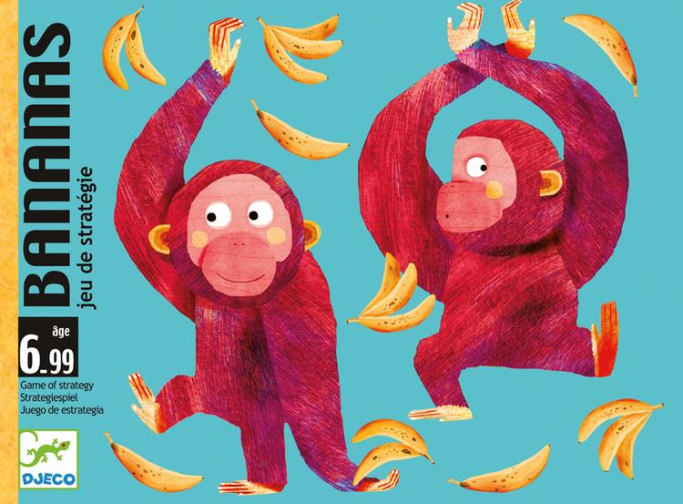 Bananas - Kortspel där du samlar på bananer och lägger apor på rad