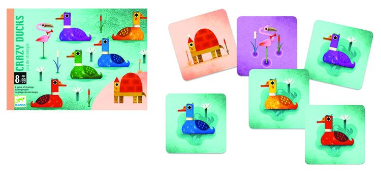 Crazy ducks kortspel för barn från Djeco