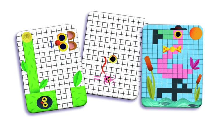 Mini Grafic Colouring Pixels - Färglägg efter regler från Djeco