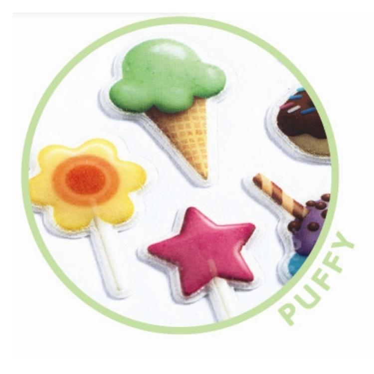 Mini stickers - Sweet godis och glass klistermärken från Djeco