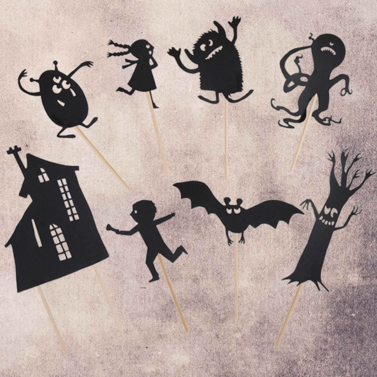 Skuggfigurer Monster (självlysande)