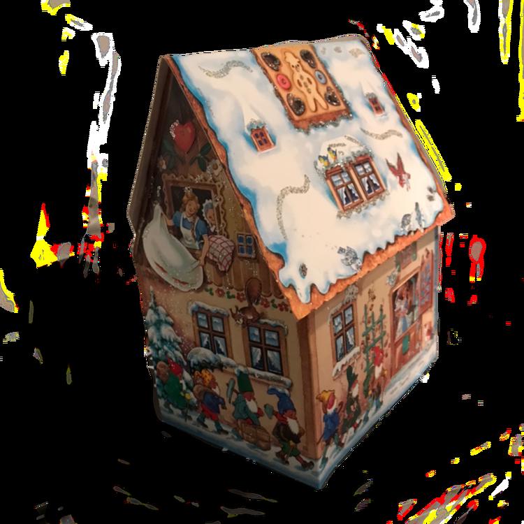 Adventskalender julkalender pepparkakshus vintage