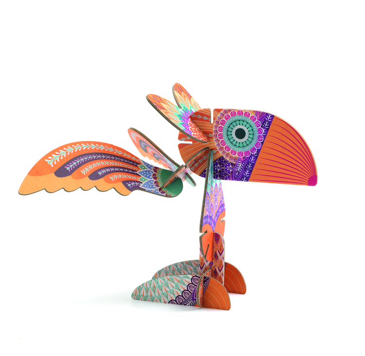 djeco fågel bygg fantasifågel volubo birds