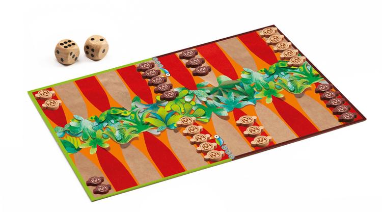 Vackert backgammon från Djeco