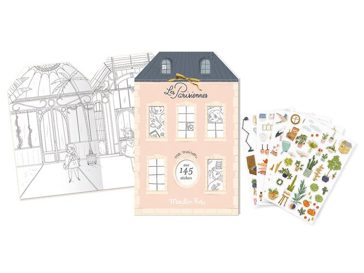 Vacker pysselbok med klistermärken - 'Les Parisiennes' från Moulin Roty