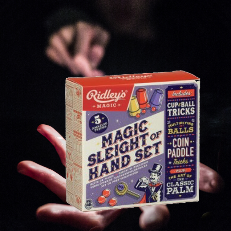 Trollerilåda med fem magiska tricks (Magic  Sleight of Hand Set)