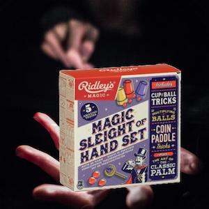 Trollerilåda med fem magiska tricks (Magic  Sleight of Hand Set)