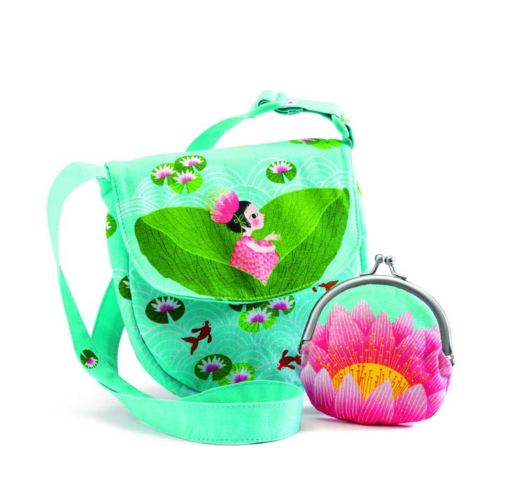 Miss waterlily bag and purse - Söt väska och portmonnä med näckrosor från Djeco