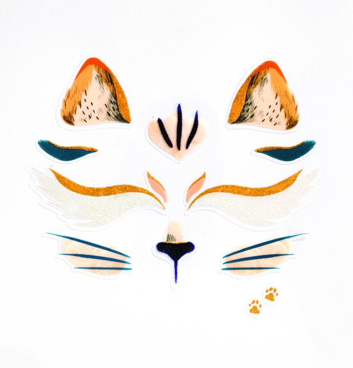 Utsmyckning av ansiktet - Katt (Face stickers) från Djeco