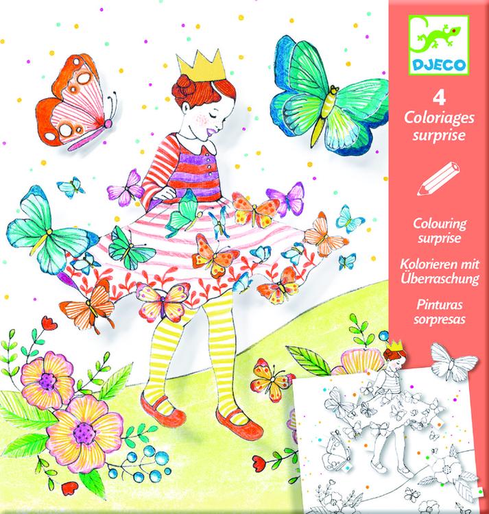 Colouring, Lady Butterfly - Färglägg i 3D, från Djeco