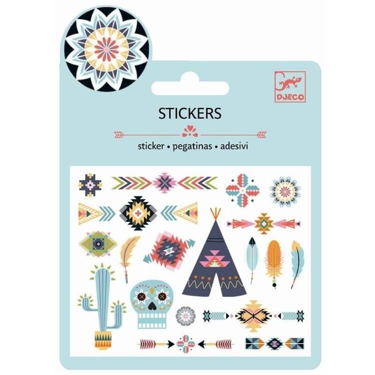 Mini stickers, Western style, från Djeco