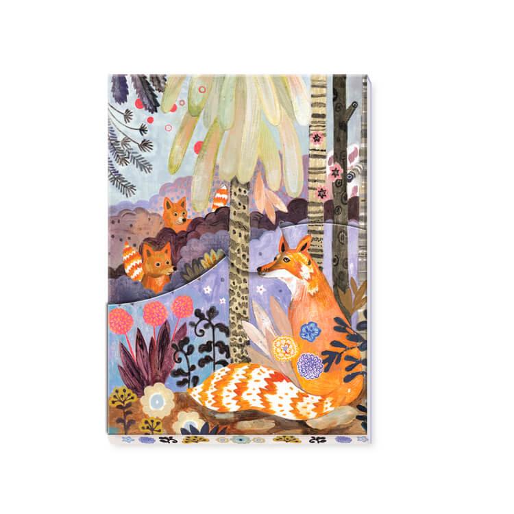 Notepad, Martyna - Vackert block med skogsmotiv från Djeco