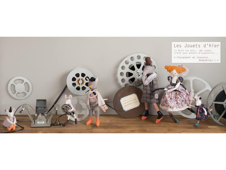 Vackra gnuggisar - 'Les Jouets d'Hier'  - Teater från Moulin Roty