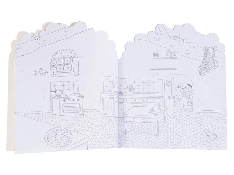 Bok 'Le Grande Famille' med klistermärken från Moulin Roty