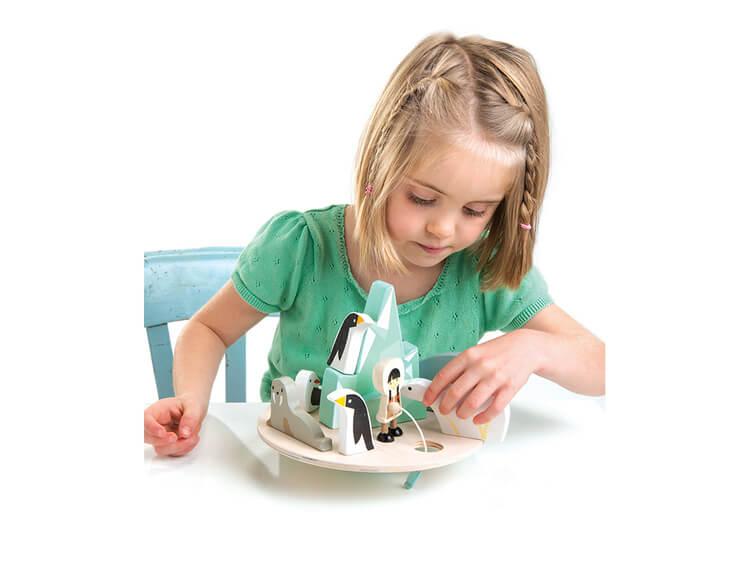 Balanslek Nord- och Sydpol Tender Leaf Toys