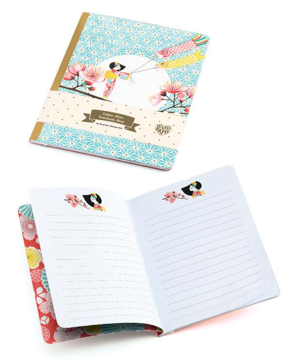 Notebook Misa - Japaninspirerad anteckningsbok från Djeco