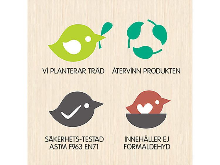 Dockhusfamilj 'Löv' från Tender Leaf Toy