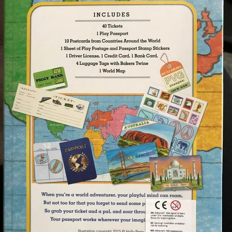 Leka resa - Biljetter, pass, karta, bagagetaggar och mycket mer!