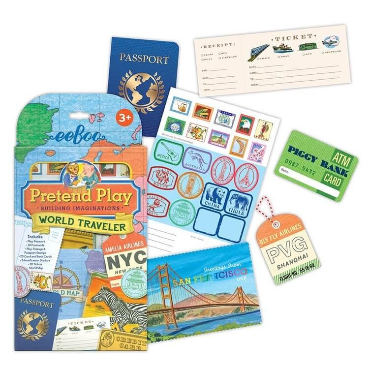 Leka resa - Biljetter, pass, karta, bagagetaggar och mycket mer! *