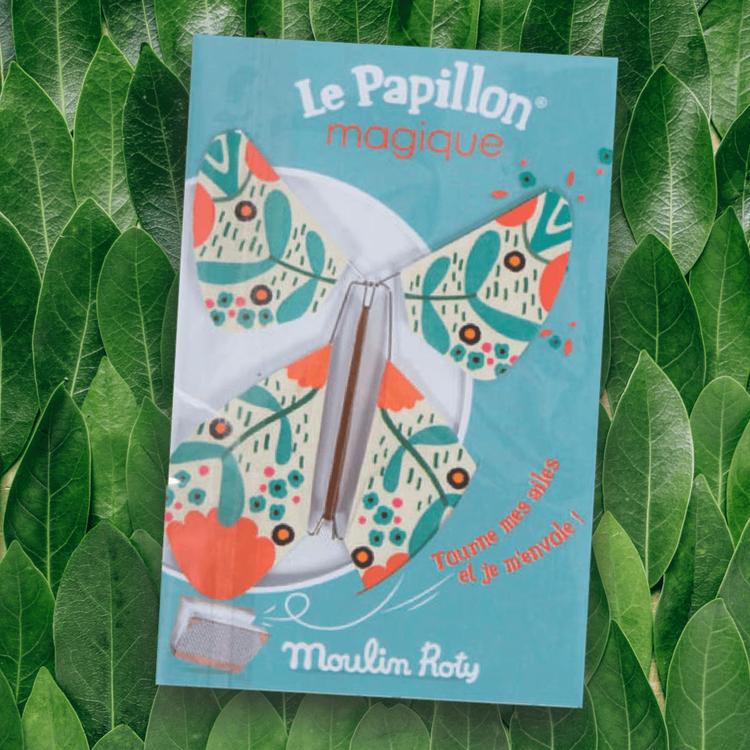 Fladdrande pappersfjäril från Moulin Roty - Grön