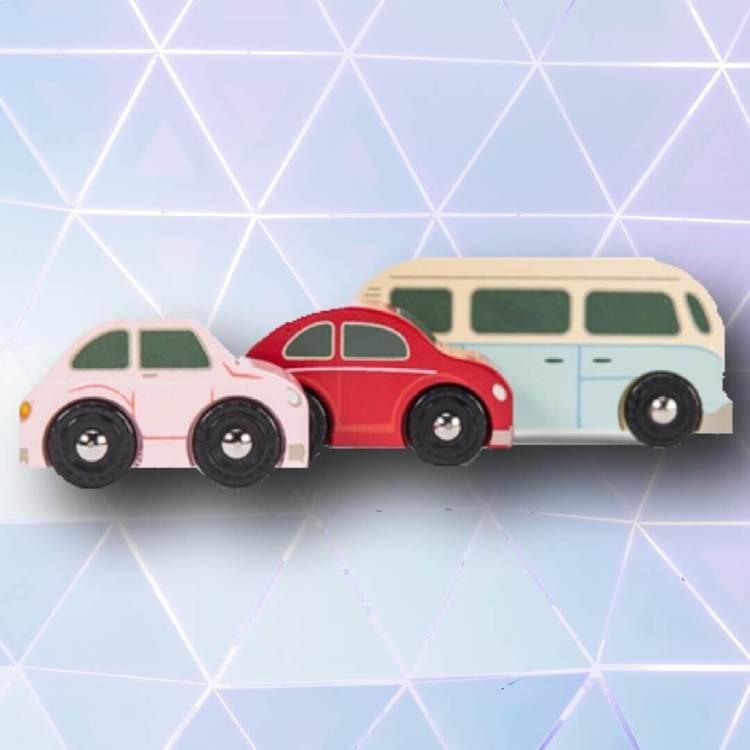 Bilar Retro (3st) från Le Toy Van