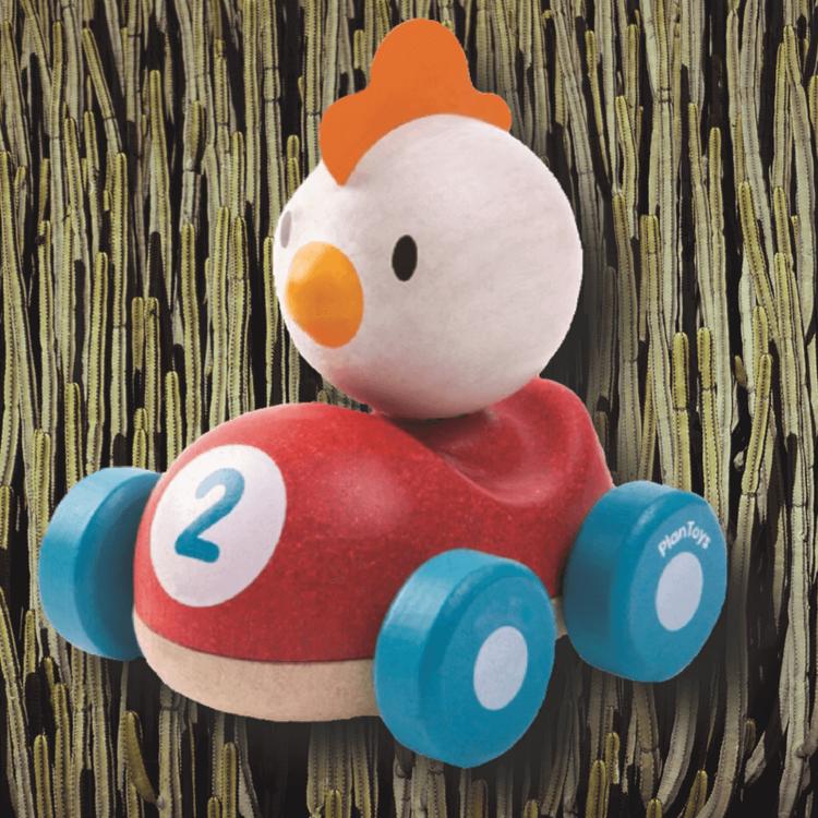 Chicken Racer från PlanToys (ekologiska leksaker)