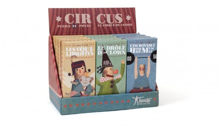 Cirkuspussel från Londji 24 bitar
