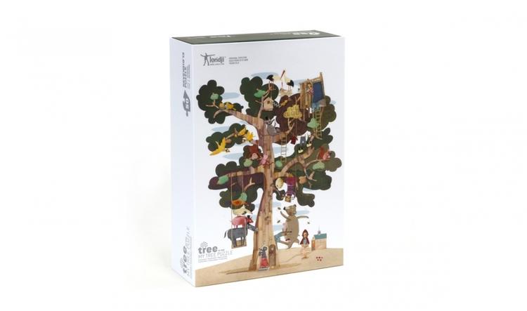 Trädpussel med dubbla sidor från Londji