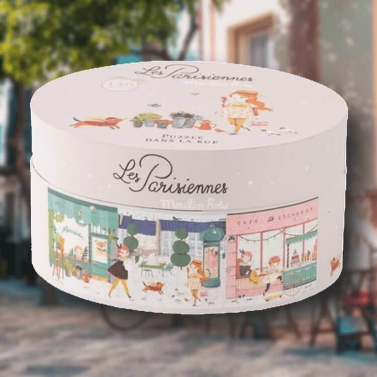 Pussel 'Les Parisiennes' Parisgata (140 bitar) från Moulin Roty
