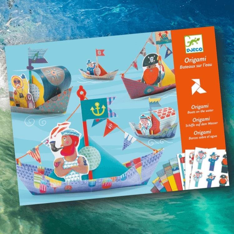 Origami - Båtar (Floating boats) från Djeco