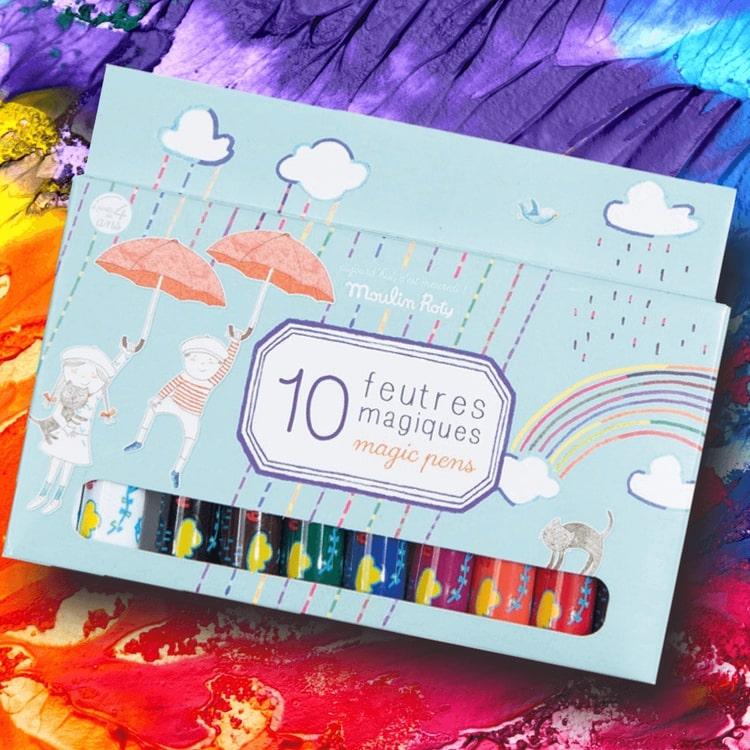 Magiska pennor som ändrar färg från Moulin Roty