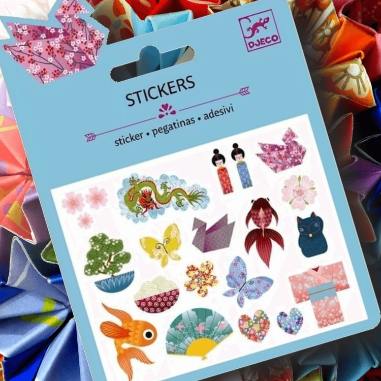 Mini stickers, Japanese designs, från Djeco