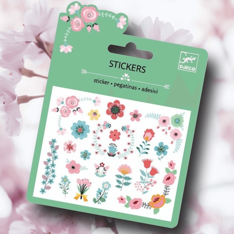 Mini stickers, Small flowers, från Djeco